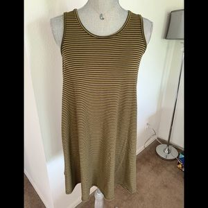 Missimo Green and Black Striped Tank Dress